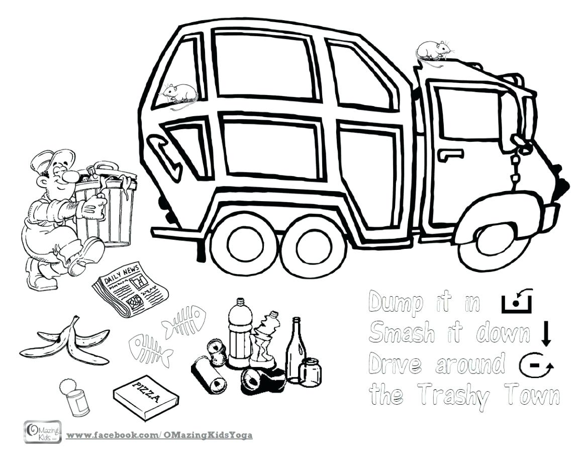 Garbage Truck Drawing At Getdrawings