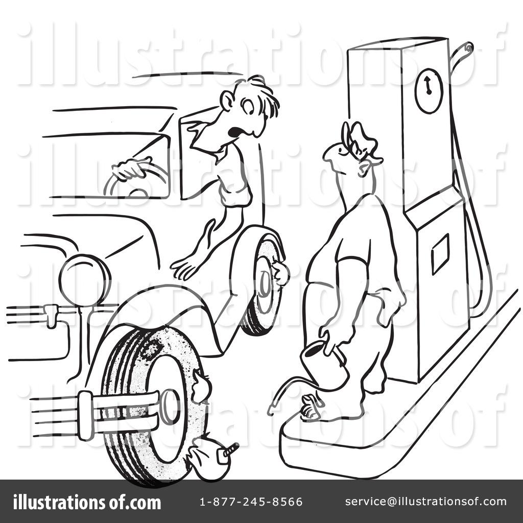 Gas Station Drawing At Getdrawings