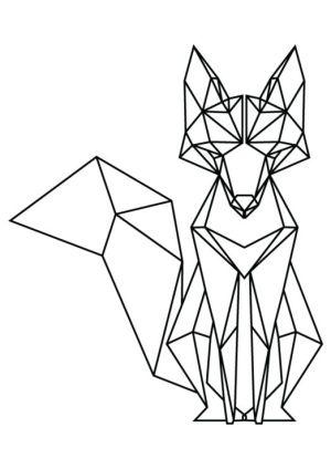 geometric animal drawing shape getdrawings