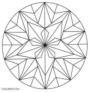 geometric coloring pages flower islamic patterns kaleidoscope simple drawing easy template printable cool2bkids getdrawings sketch getcolorings