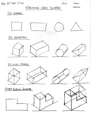 shapes geometric coloring pages drawing shape sketching printable technical isometric basic sketch drawings orthographic simple exercises grade engineering getdrawings technology