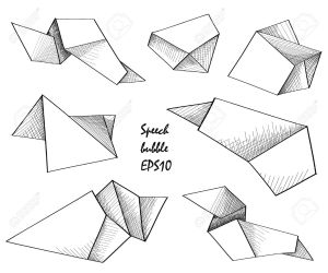 geometric shape drawing hand sketch getdrawings