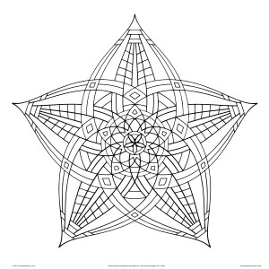 shapes drawing geometrical geometric coloring adults getdrawings