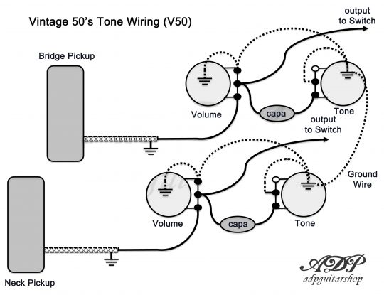4 Wire Wiring Diagram Gibson Le Paul Pickup