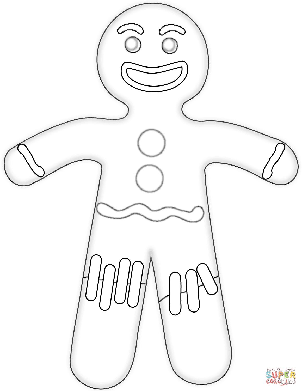 Gingerbread Man Line Drawing At Getdrawings