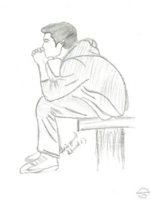 pencil drawing sad drawings easy anime plus getdrawings