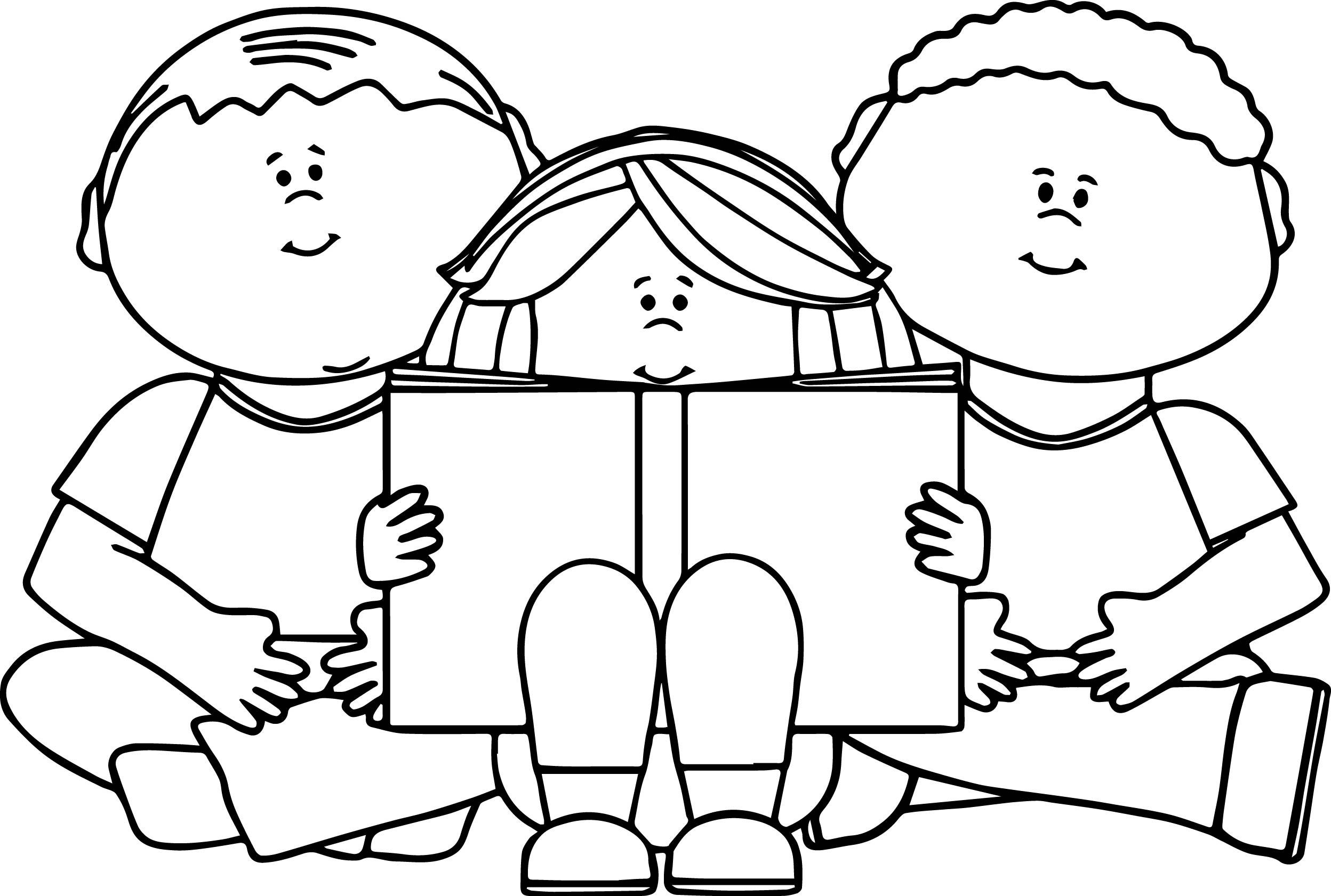 Girl Reading Book Drawing At Getdrawings