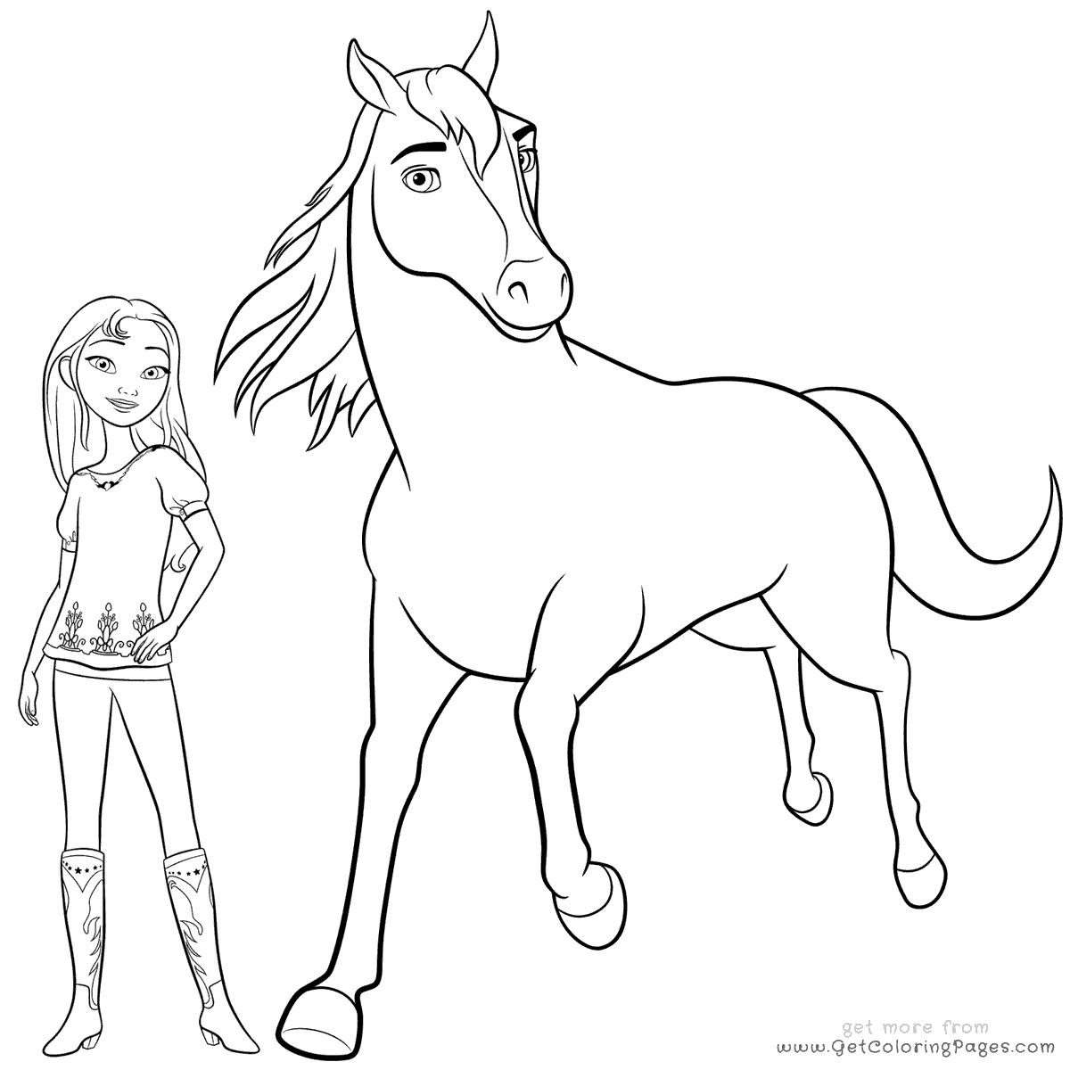 Girl Riding Horse Drawing At Getdrawings