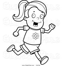 1024x1044 pal clipart of a lineart running girl by cory thoman [ 1024 x 1044 Pixel ]