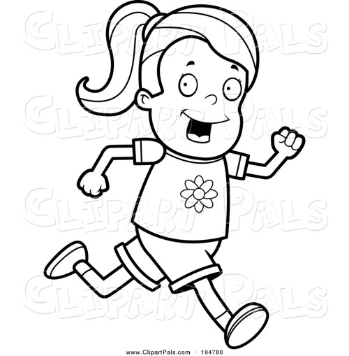 small resolution of 1024x1044 pal clipart of a lineart running girl by cory thoman