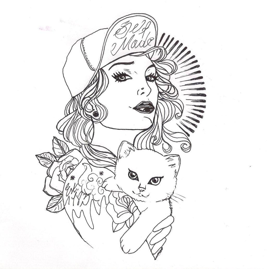Girl Tattoo Drawing At Getdrawings