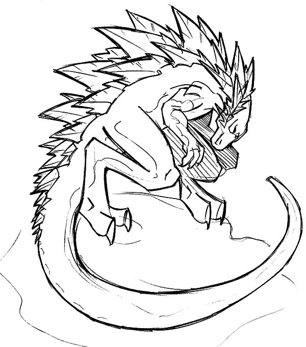 Godzilla Drawing at GetDrawingscom Free for personal