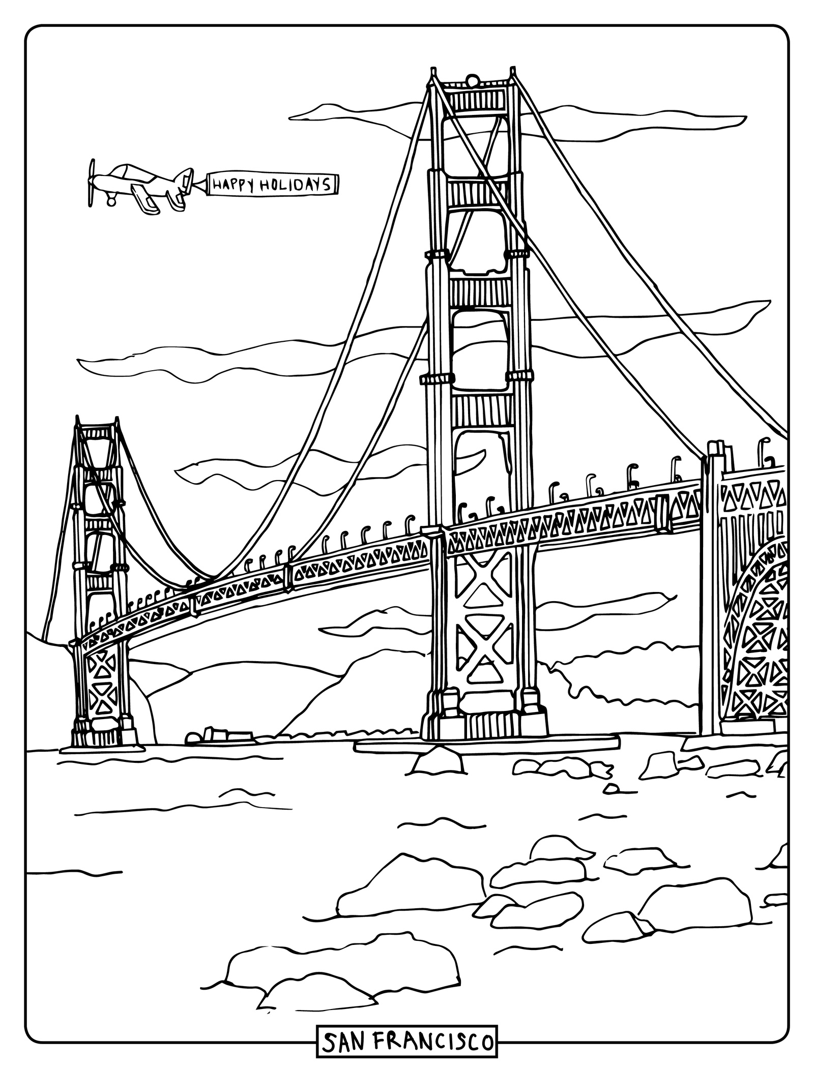Golden Gate Bridge Drawing Step By Step At Getdrawings