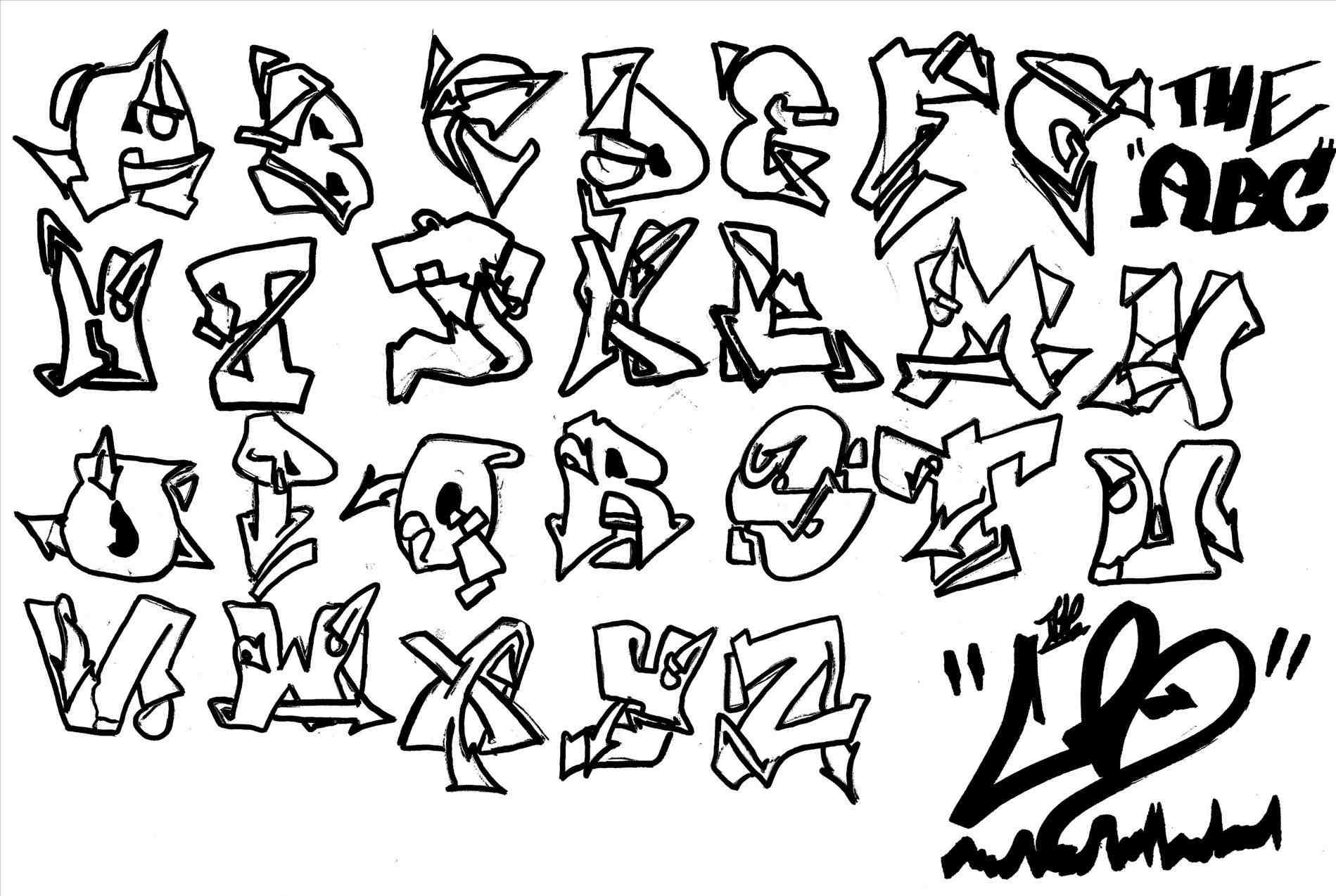 Graffiti Letters Az Drawing At Getdrawings