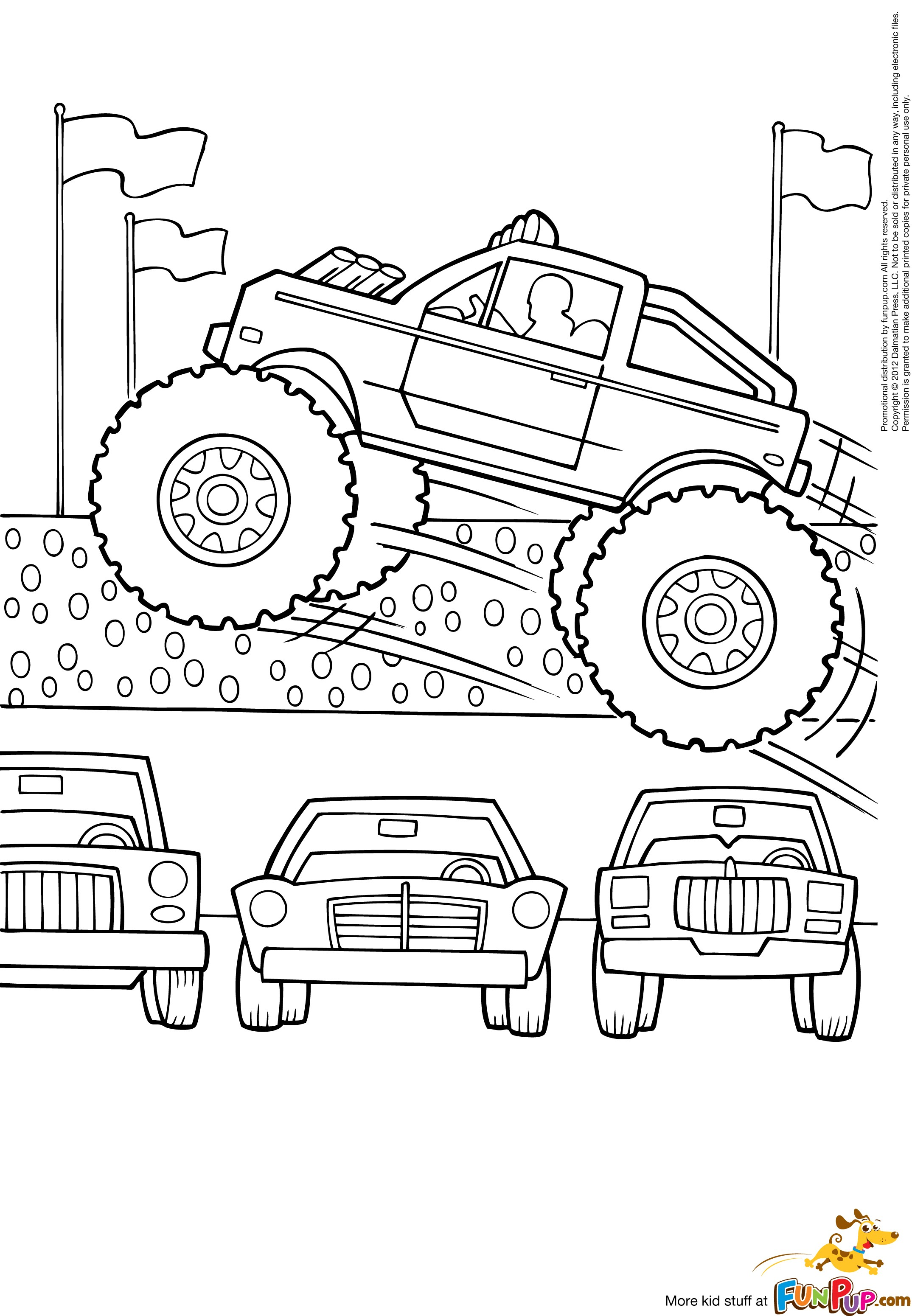 Grave Digger Monster Truck Drawing at GetDrawings Free