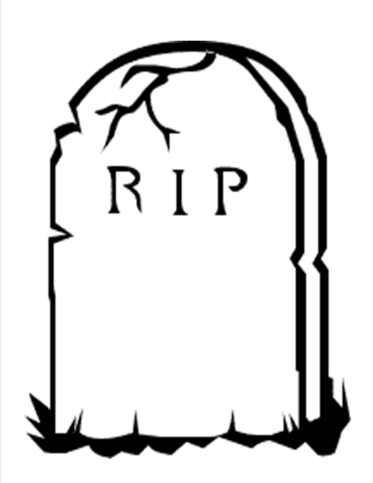 Grave Stone Drawing At Getdrawings