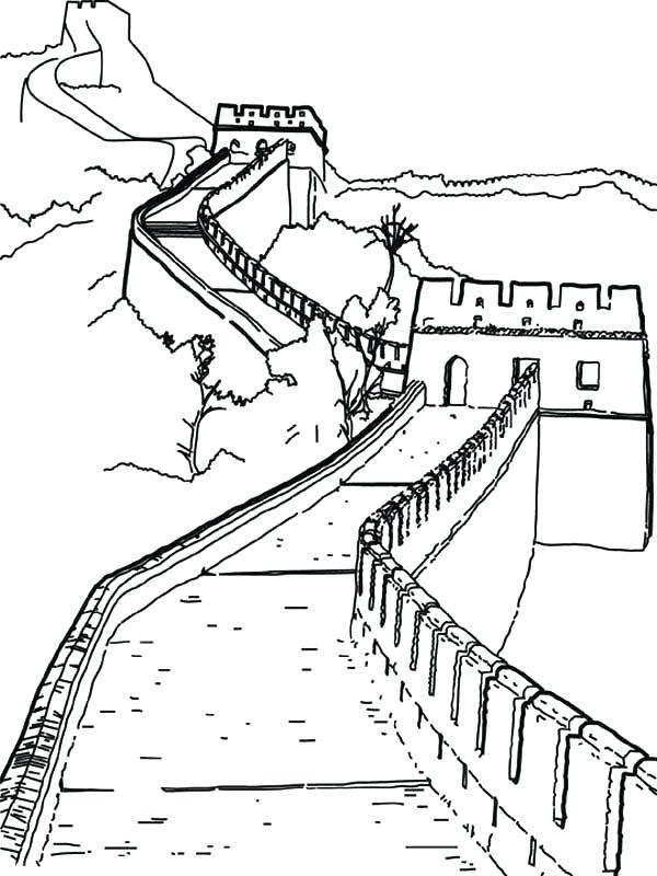 Great Wall Of China Map View