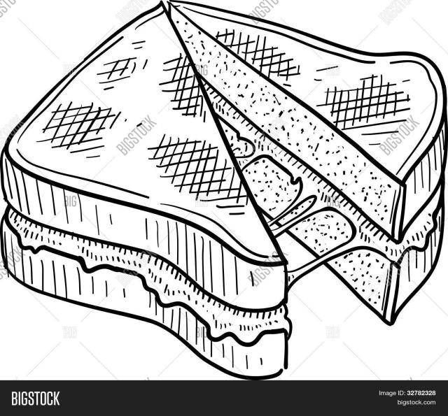 Grilled Cheese Coloring Page - Shefalitayal
