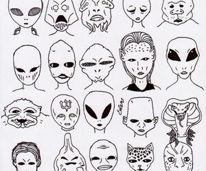 alien grunge drawing drawings draw sketches aliens easy tattoo trippy cartoon creepy getdrawings weird charles visit doodle paintingvalley witchy searchlock