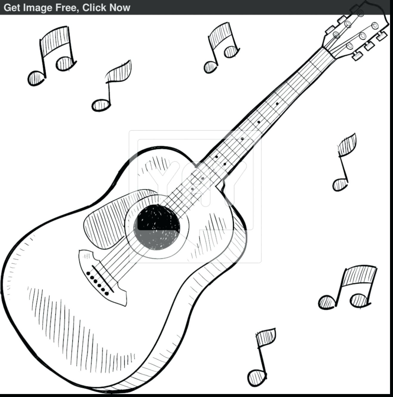 Guitar Drawing At Getdrawings