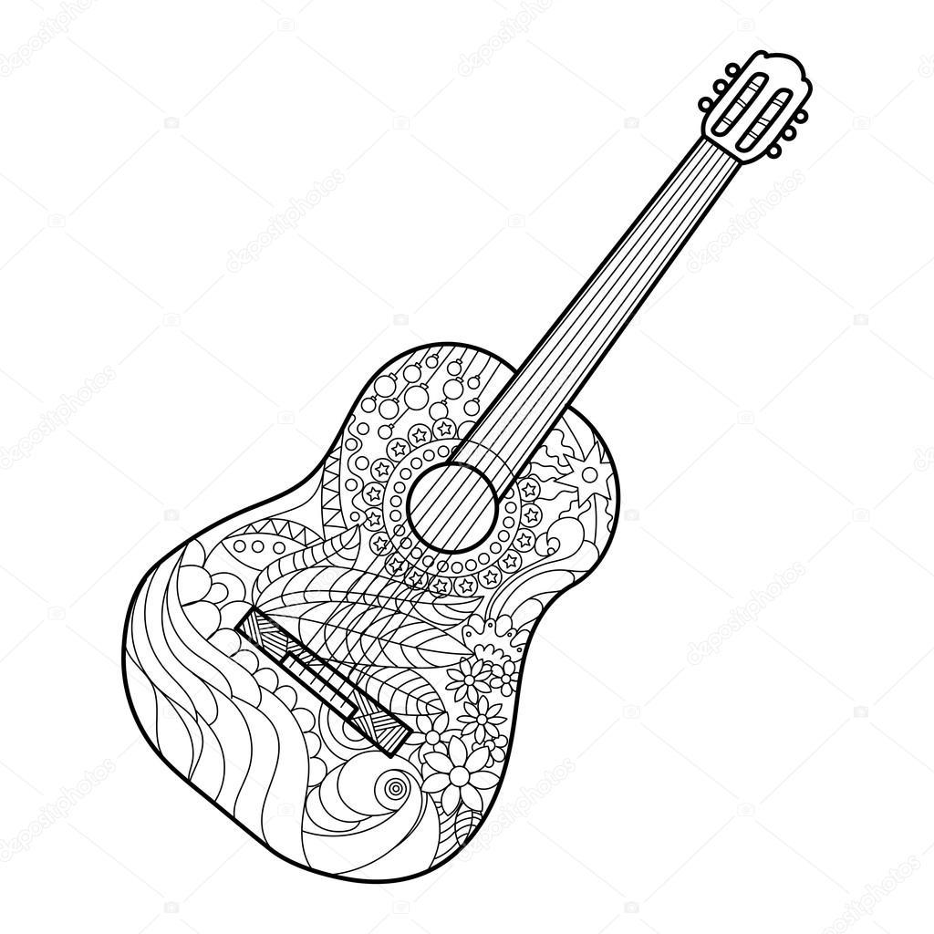 Guitar Line Drawing At Getdrawings