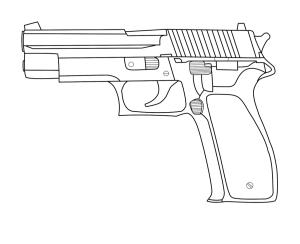gun drawing handgun lineart deviantart pencil hand guns drawings handguns concept dasaru bushes god