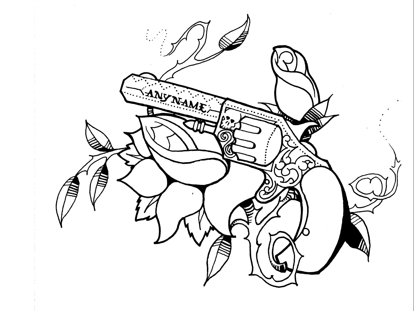 Gun Tattoo Drawing At Getdrawings
