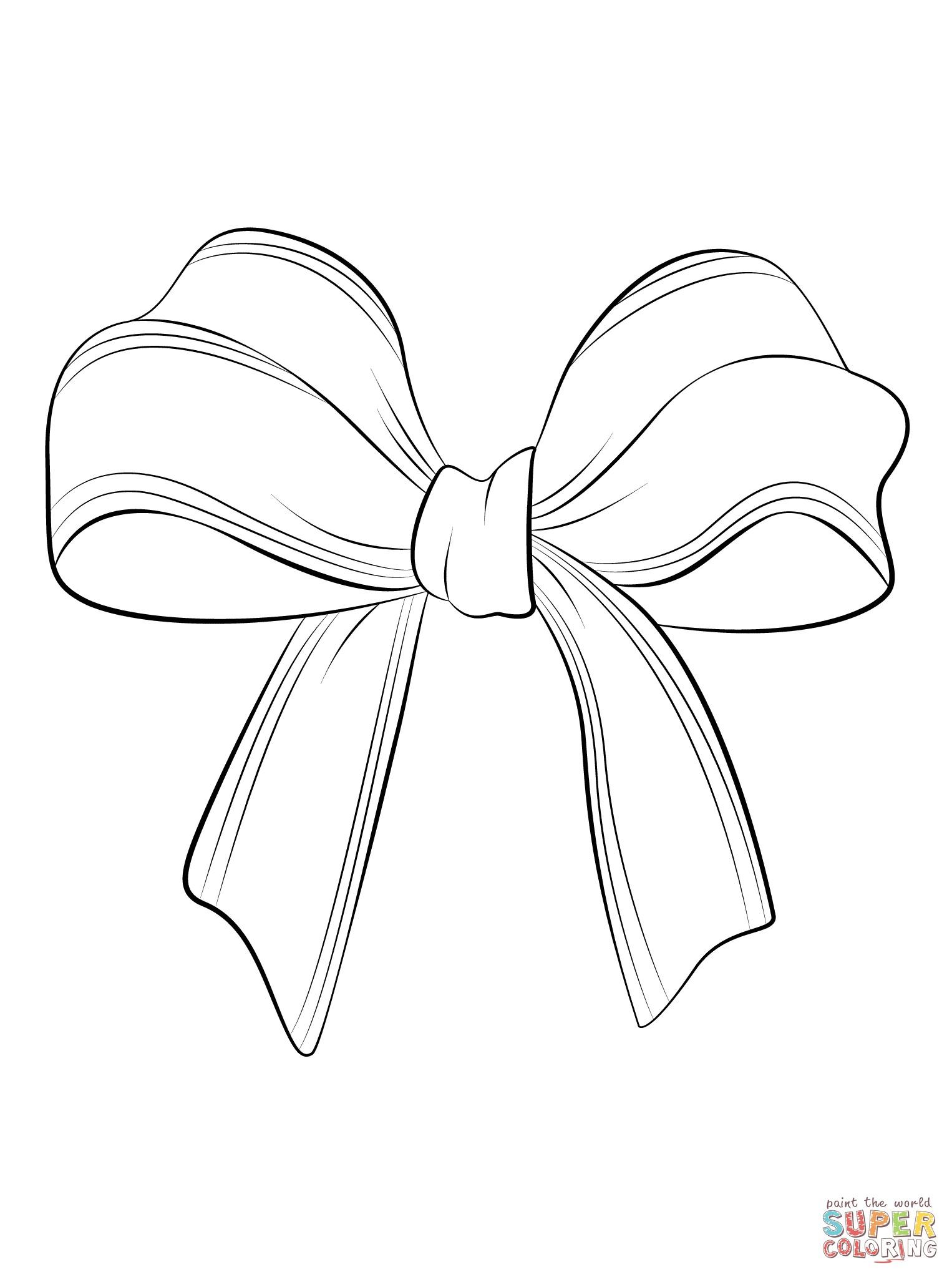 Hair Bow Drawing At Getdrawings