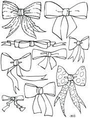 hair bow drawing