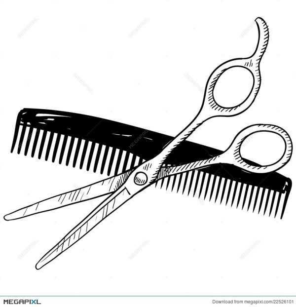 hair clippers drawing