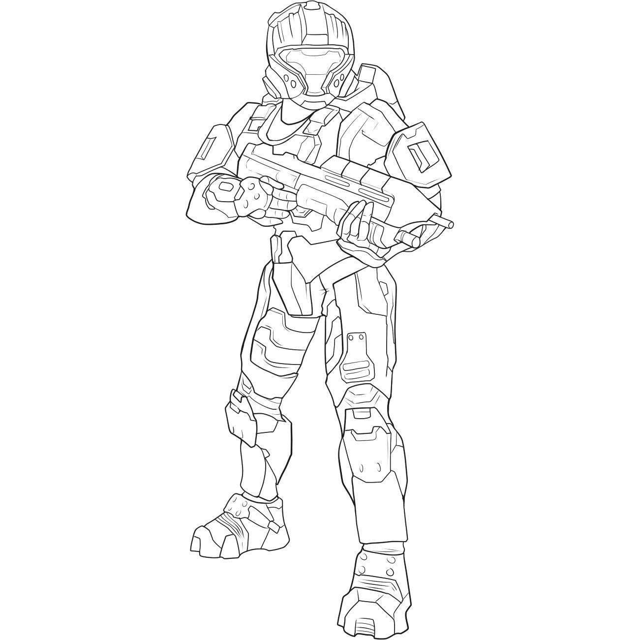 Halo 4 Master Chief Drawing At Getdrawings