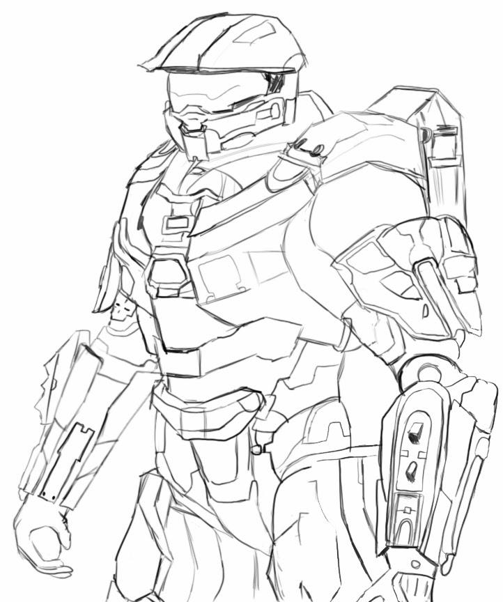 halo 4 master chief drawing at getdrawings  free download