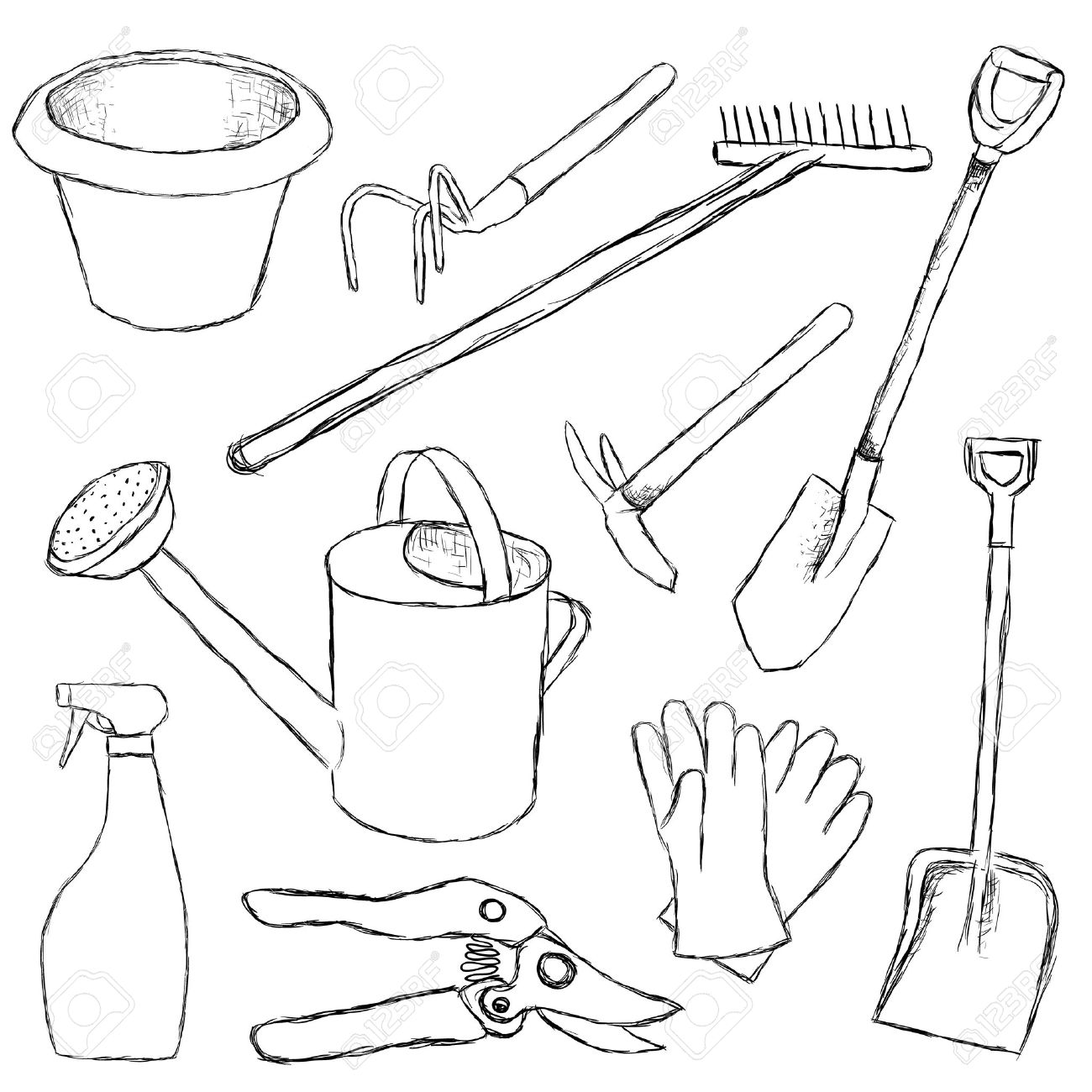 Hand Tools Drawing At Getdrawings