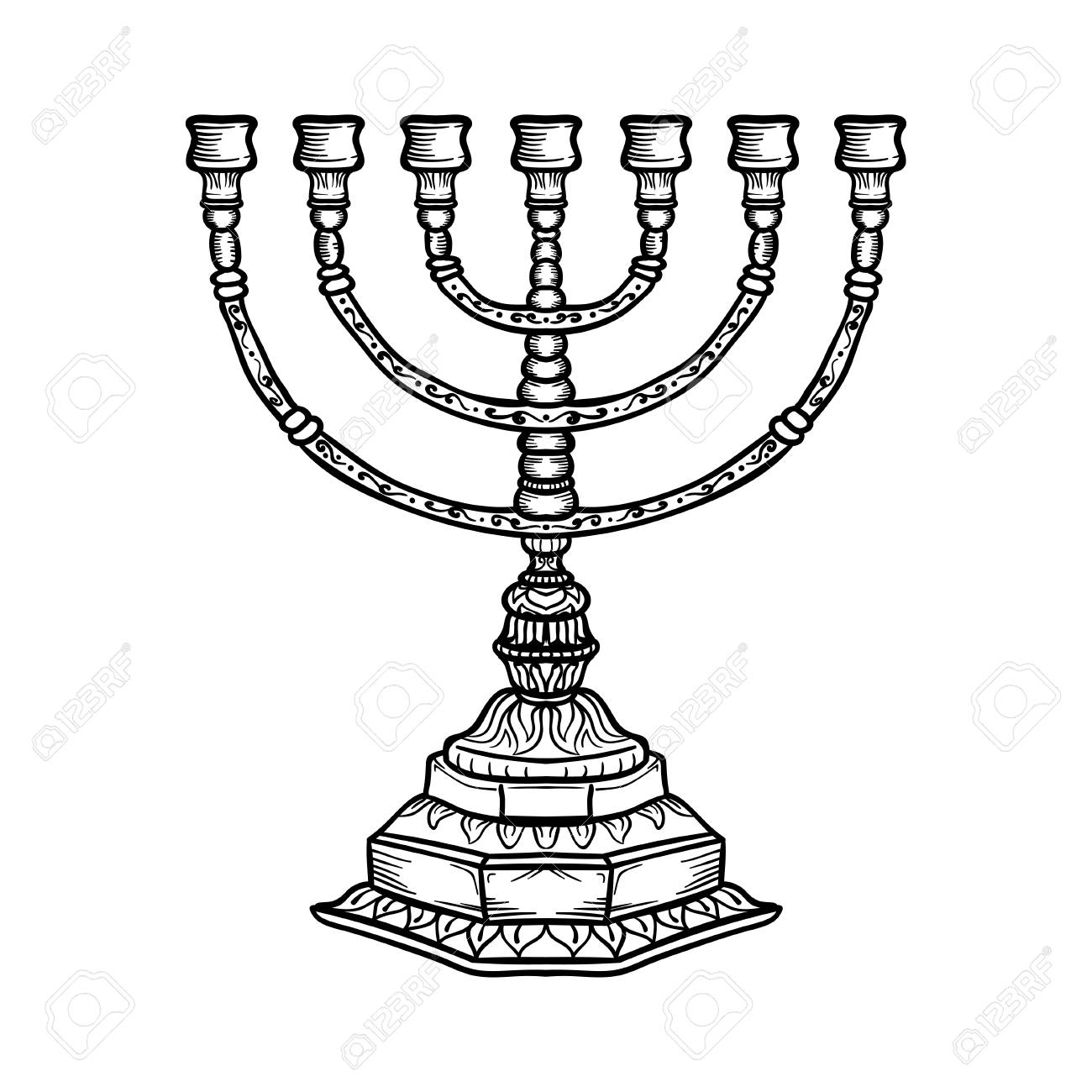 The Best Free Menorah Drawing Images Download From 118