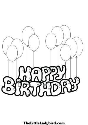 birthday happy drawing balloon drawn getdrawings