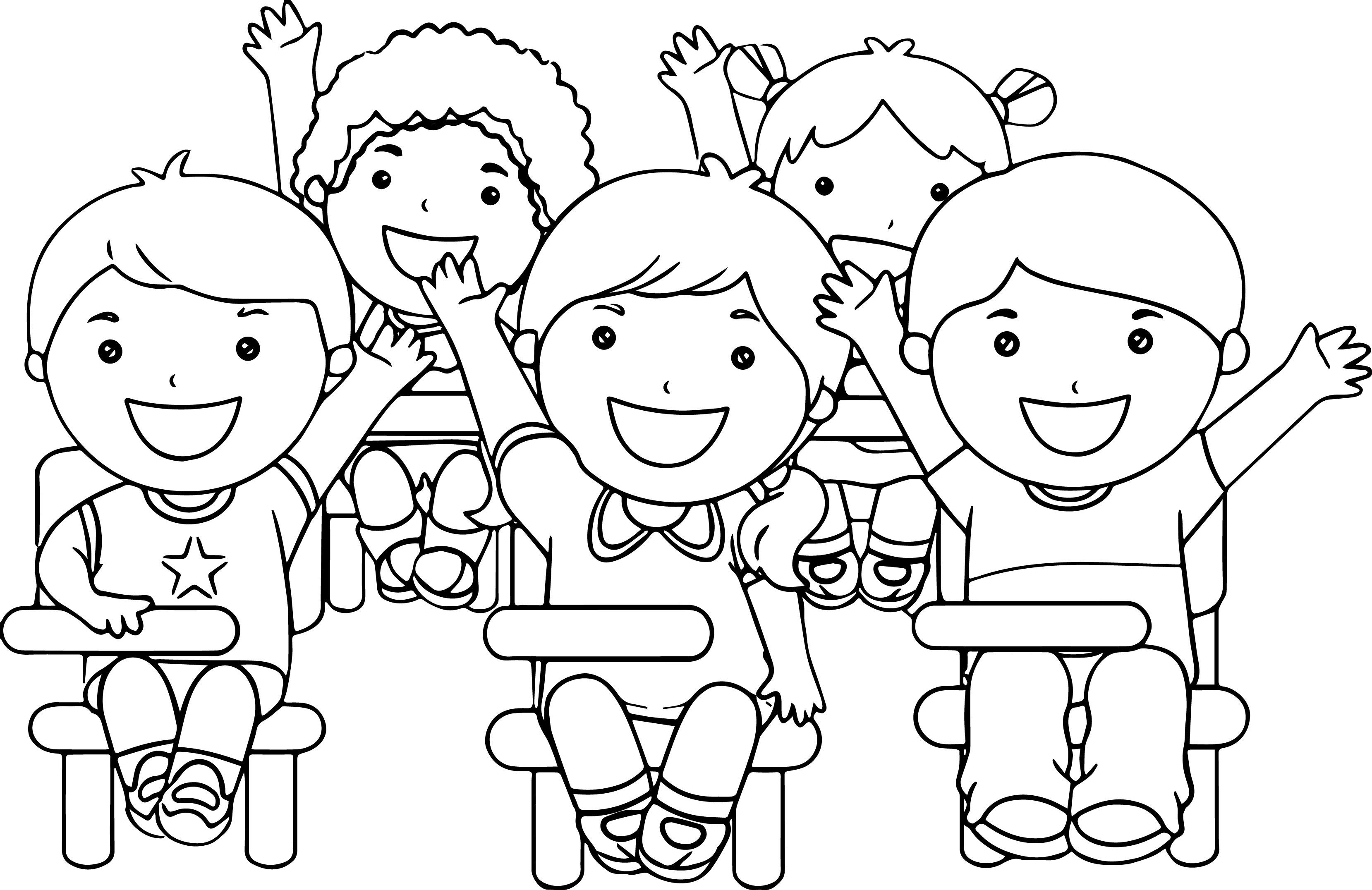 Happy Children Drawing At Getdrawings