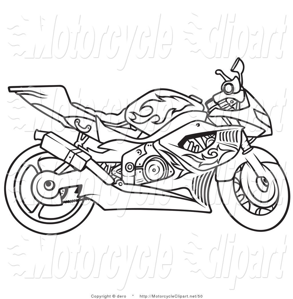 Harley Davidson Motorcycle Drawing at GetDrawings.com