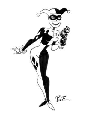 quinn harley bruce timm drawing easy classic sketch joker comic batman series animated cartoon poison ivy comics community getdrawings gotham