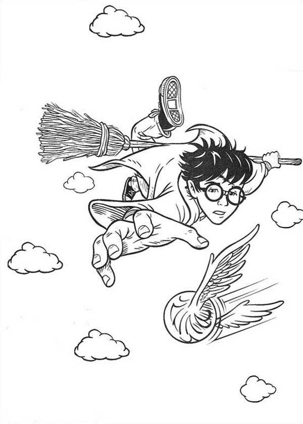 Harry Potter And Ron Are Best Friend Coloring Page
