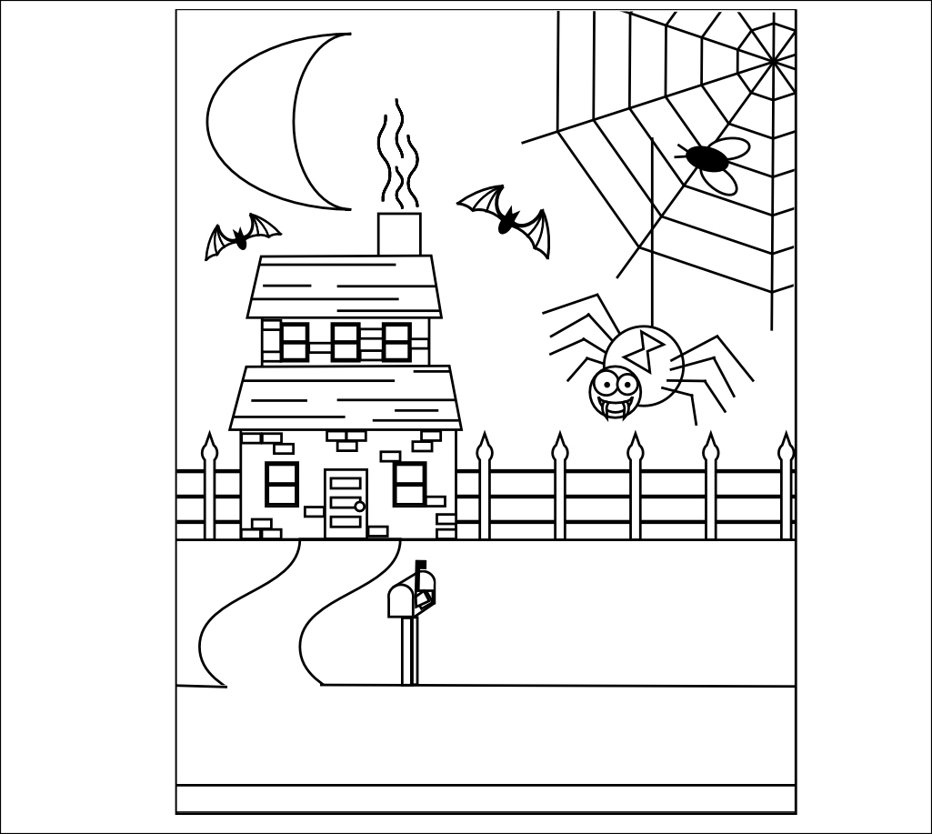 Haunted House Drawing For Halloween at GetDrawings.com