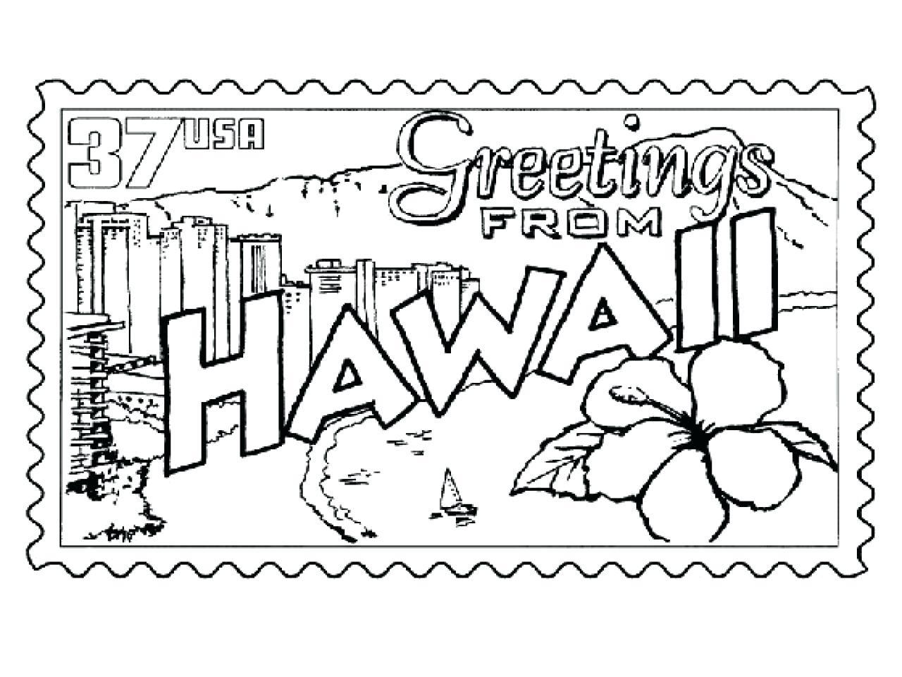 Hawaii State Flower Drawing At Getdrawings