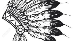 headdress native indian american drawing chief getdrawings