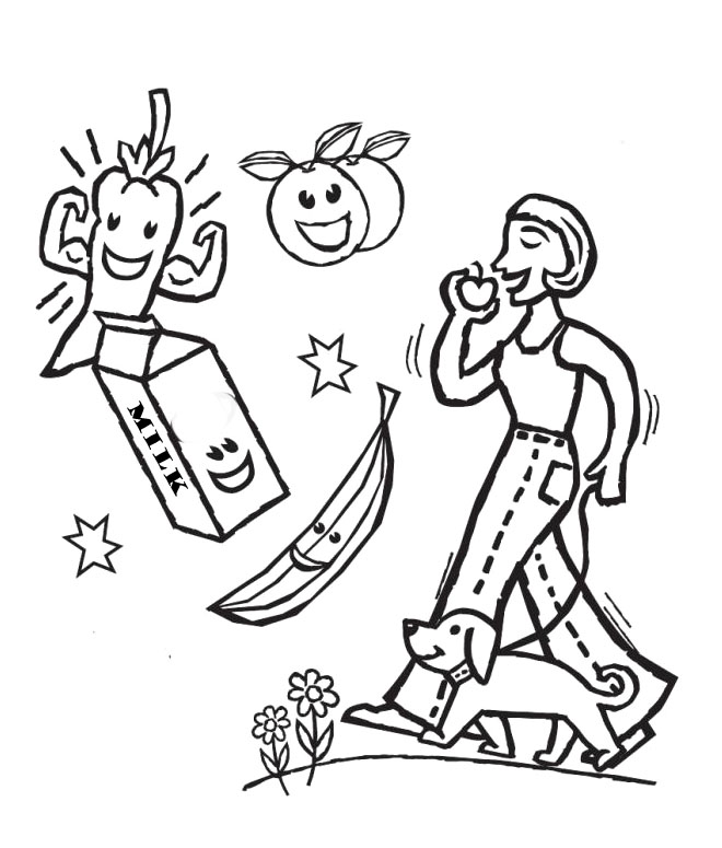 Healthy Choices Pages Coloring Pages