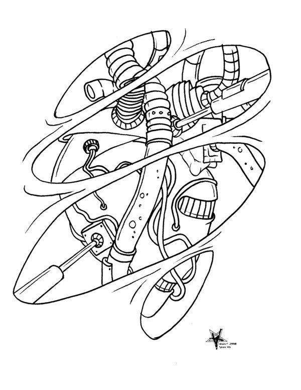 Biomechanical Art Coloring Pages