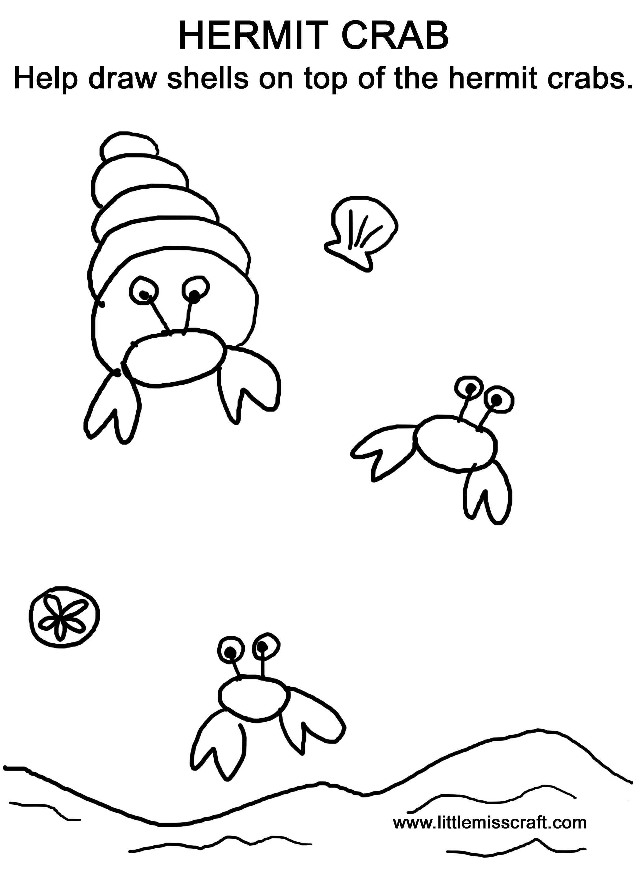 Hermit Crab Drawing At Getdrawings