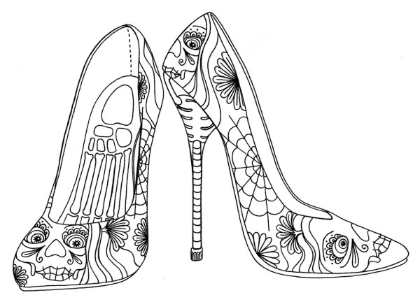 High Heel Shoe Drawing Free Personal Of