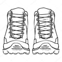 Hiking Boots Drawing at GetDrawings   Free download