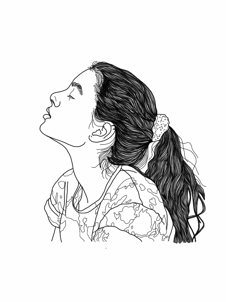 Hipster Girl Drawing at GetDrawings | Free download