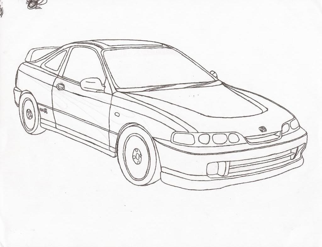 Honda Drawing At Getdrawings