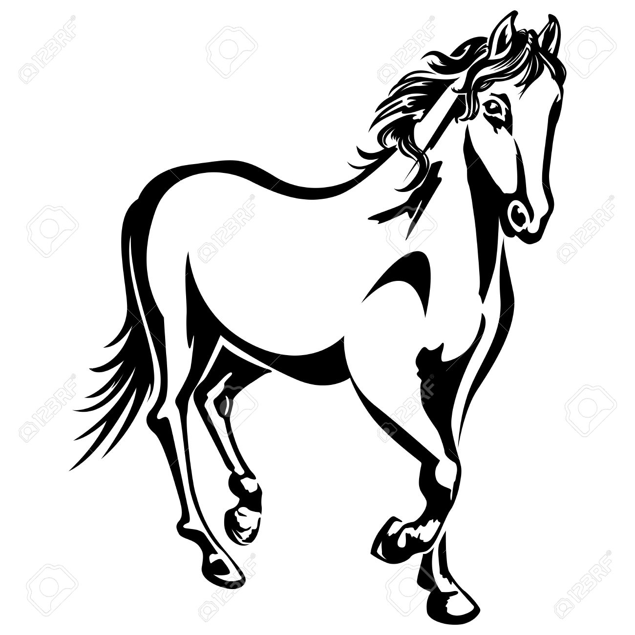 Horse Black And White Drawing At Getdrawings